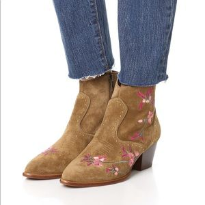 Ash Heidi Embroidered Western Booties boots